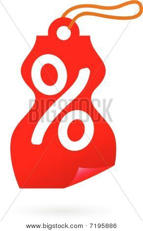 Sale Tag With Percent Sign