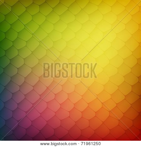 Abstract background of colored cells