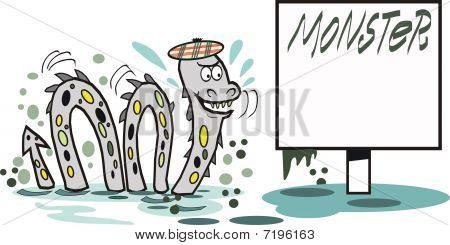 Loch Ness monster cartoon