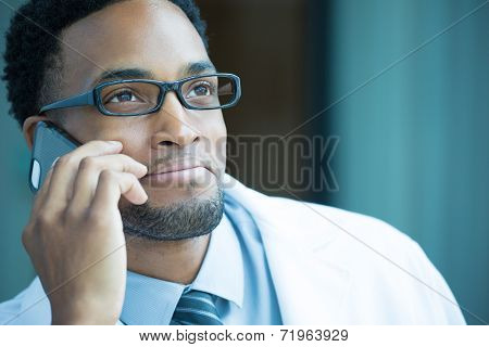 Healthcare Professional On Phone