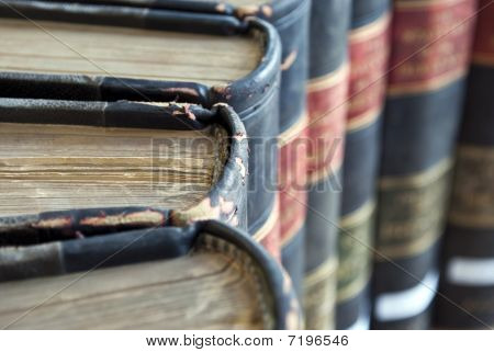 Closeup On Old Legal / Law Books