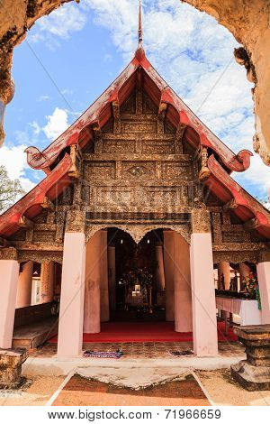 Ancient Viharn Of Lanna Style Temple