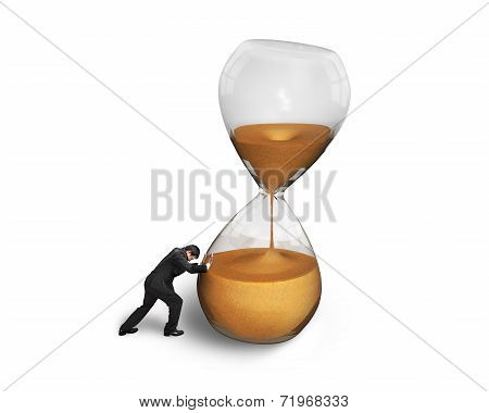 Man Pushing Tilt Hourglass
