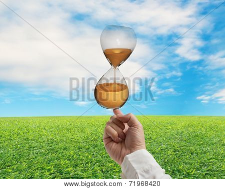 Index Finger Balancing Sand Clock