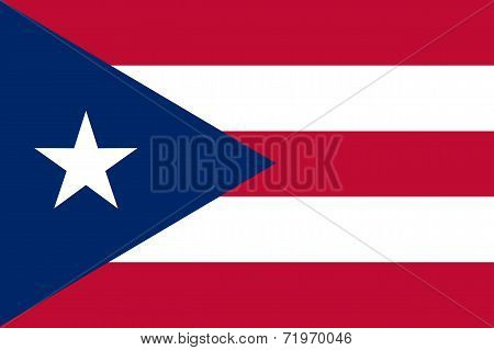 Current National Flag Of Puerto Rico