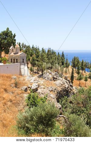 Little Church With Beautiful Sea View In Greece
