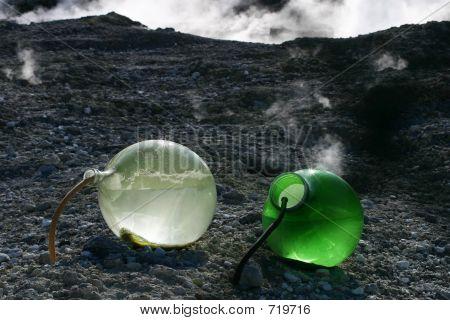 Sulphur fumes