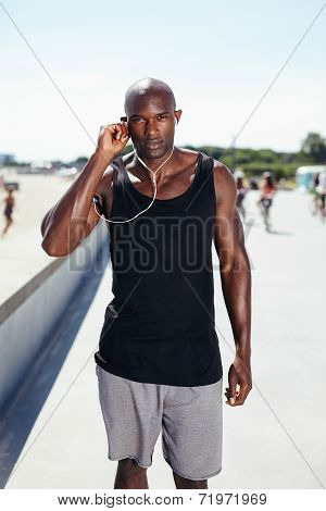 Fit Young Man At Promenade