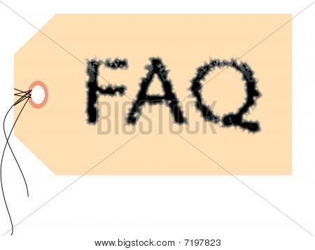 FAQ Label Illustration