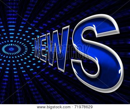 News Online Indicates World Wide Web And Network