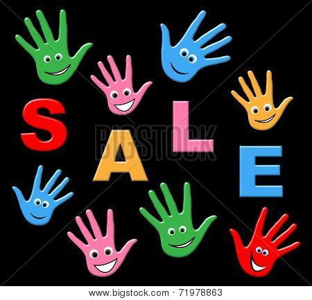 Kids Sale Indicates Merchandise Youths And Discounts