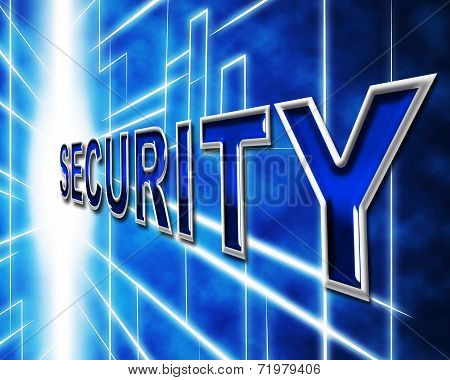 Data Security Indicates Restricted Password And Information