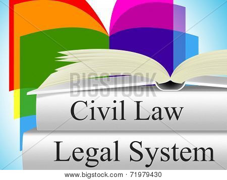 Civil Law Indicates Judiciary Juridical And Court