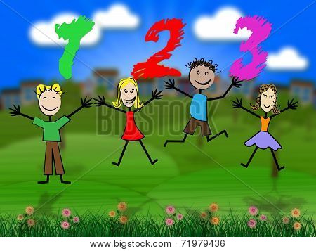 One Two Three Represents Learn Arithmetic And Number
