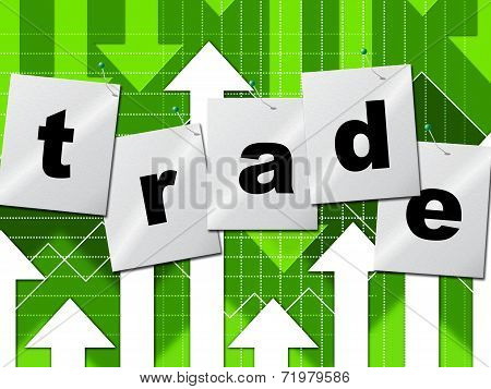 Trading Trade Means Selling Import And Buying