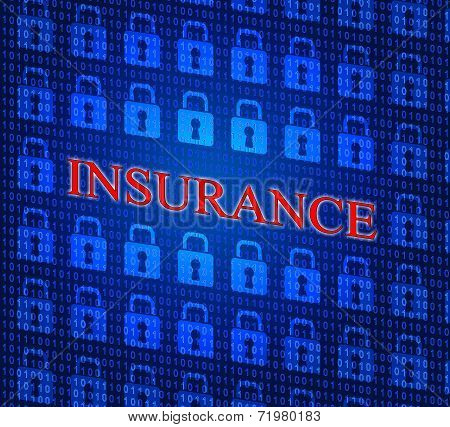 Online Insurance Represents World Wide Web And Indemnity