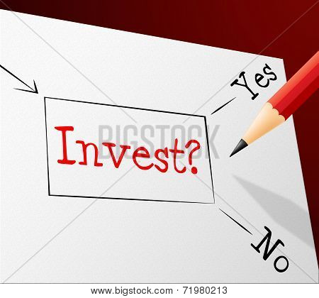 Invest Choice Shows Return On Investment And Alternative