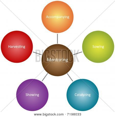 Mentoring Qualities Business Diagram