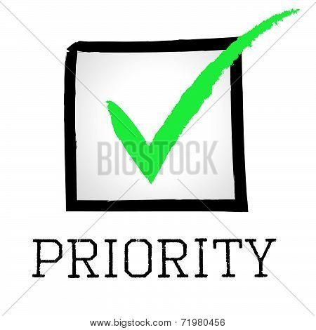 Priority Tick Shows Correct Mark And Preference