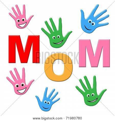 Handprints Mom Represents Human Watercolor And Painted