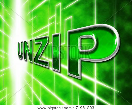 Unzip File Means Files Zipper And Folders
