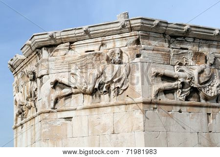 Tower of the Winds detail, Athens, Greece