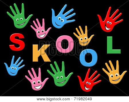 Education School Means Youths Toddlers And Youngster