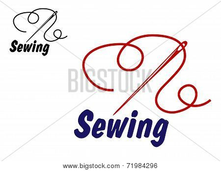 Needlework or sewing symbol