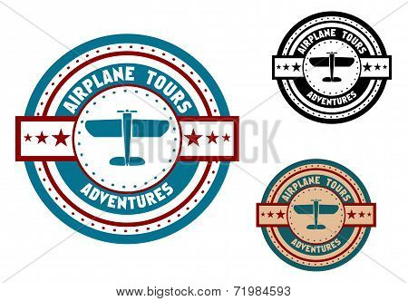 Airplane tours travel icon