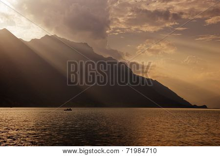 swiss lake at brienz, Switzerland