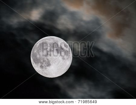 Closeup of full moon