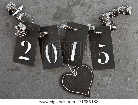 2015 On Slate Background