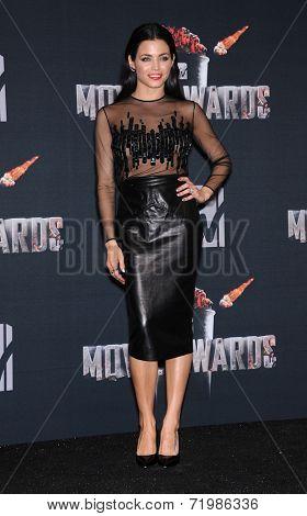 LOS ANGELES - APR 13:  Jenna Dewan-Tatum in the 2014 MTV Movie Awards - Press Room  on April 13, 2014 in Los Angeles, CA.