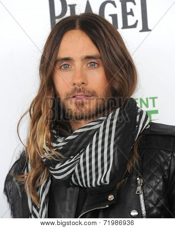 LOS ANGELES - MAR 01:  Jared Leto arrives to the Film Independent Spirit Awards 2014  on March 01, 2014 in Santa Monica, CA.