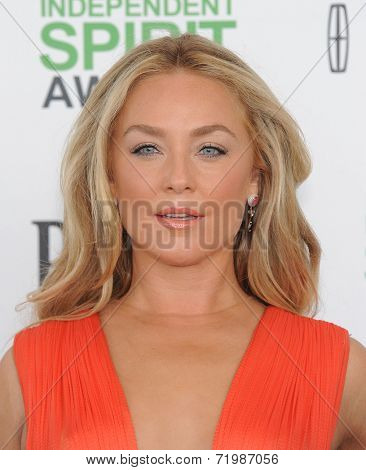 LOS ANGELES - MAR 01:  Elisabeth Rohm arrives to the Film Independent Spirit Awards 2014  on March 01, 2014 in Santa Monica, CA.