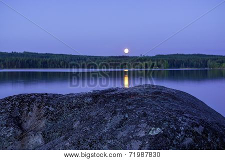 Moonlight By The Lake