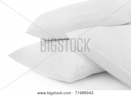 White pillows close up