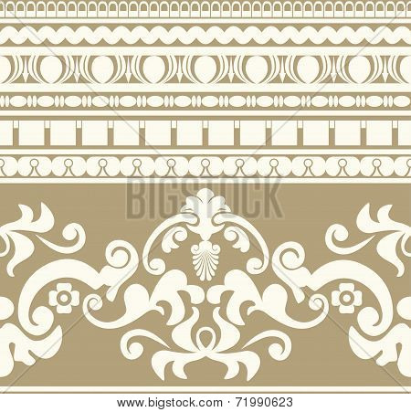 Greek ornament seamless pattern
