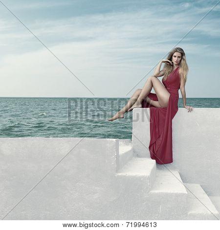 Young Woman At Resort