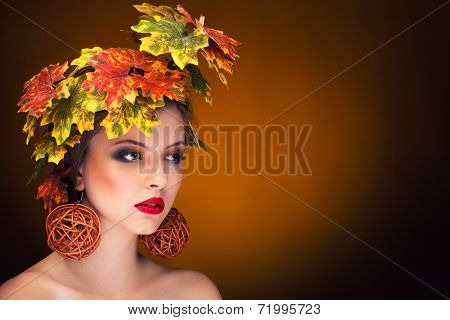 Autumn Fashion Portrait Vintage Toning