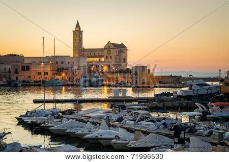 Trani, Sunset View With The Cathedral