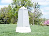 stock photo of arlington cemetery  - The Third Infantry Division Memorial in Arlington National Cemetery Arlington Virginia USA - JPG