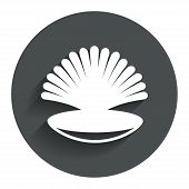foto of conch  - Sea shell sign icon - JPG