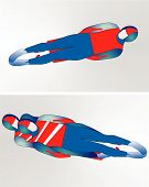 image of luge  - Illustration of the one man and two man luge - JPG