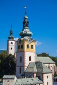 image of banska  - Castle tower in town of Banska Bystrica - JPG