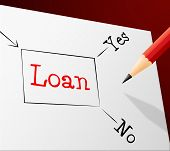 picture of borrower  - Choice Loan Showing Lent Loaning And Borrowing - JPG