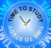 picture of time study  - Time To Study Representing School University And Train - JPG