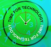 picture of byte  - Time For Technology Meaning Knowledge Hi - JPG