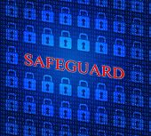 picture of safeguard  - Locked Safeguard Showing Forbidden Encryption And Sign - JPG