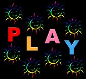 stock photo of youngster  - Playing Play Meaning Free Time And Youngsters - JPG